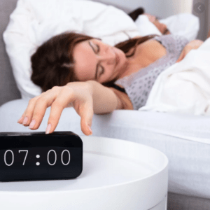 Do not place your alarm clock in your sight in your bedroom