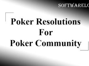 Poker Resolutions For Poker Community