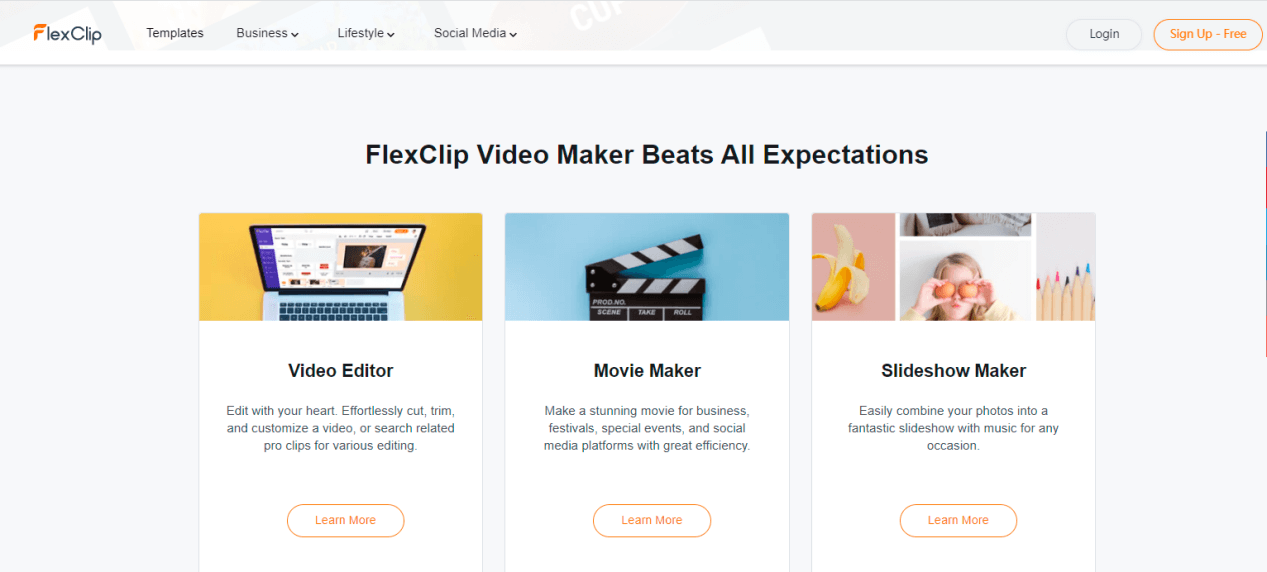 Online Video Editing with FlexClip
